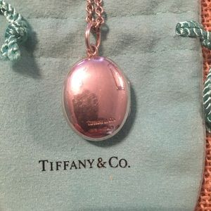 Tiffany & Co Sterling Silver Oval Locket Necklace